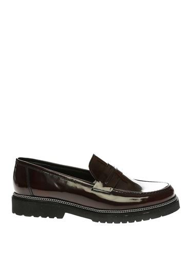 İnci İnci Rugan Klasik   Düz Ayakkabı Kırmızı